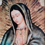 Cuadro de la Virgen de Guadalupe en madera Rustica (Medio Busto)