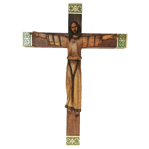 Cristo bizantino tallado a mano, decorado Rustico