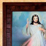 Jesús cuadro de madera Rustica