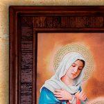 Jose, Maria y Jesús cuadro en madera Rustica
