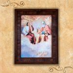Jesús y Pedro cuadro de madera Rustica