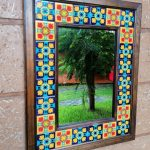 Espejo Marco madera con azulejo