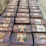 Baúl madera c/imagen religiosa