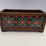 Caja jardinera o multiusos de madera 3×1 C/azulejo